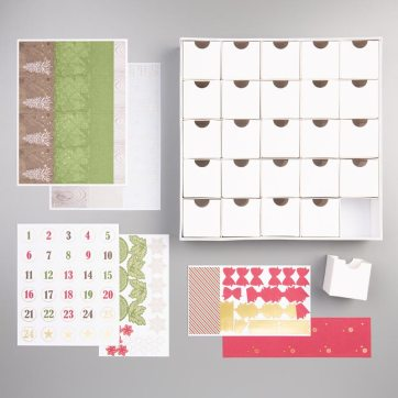 Christmas Countdown Project Kit contents