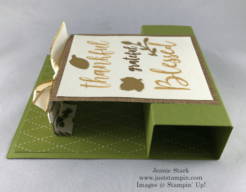 Stampin' Up! Country Home and To A Wild Rose Fun Fold Thanksgiving card idea - Jeanie Stark StampinUp