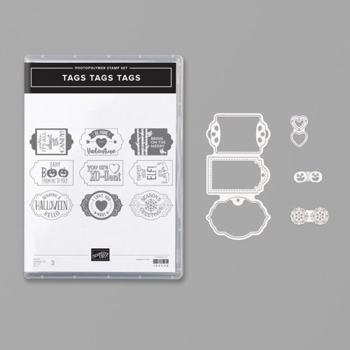 Stampin' Up! Tags Tags Tags Bundle - For inspiration and ordering information visit juststampin.com - Jeanie Stark StampinUp
