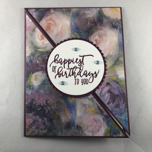 Stampin' Up! Picture Perfect Birthday card idea with Perennial Essence Designer Series Paper