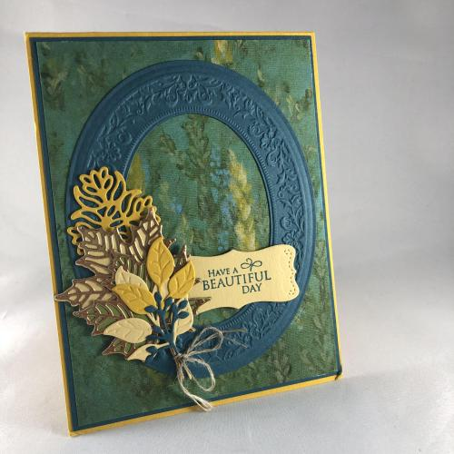 Stampin' Up! Heirloom Frames Dies & 3D embossing Folder All Occasion card idea - visit juststampin.com - Jeanie Stark StampinUp