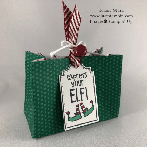Christmas bag idea using the Tags Tags Tags Bundle from Stampin' Up! - Jeanie Stark StampinUp