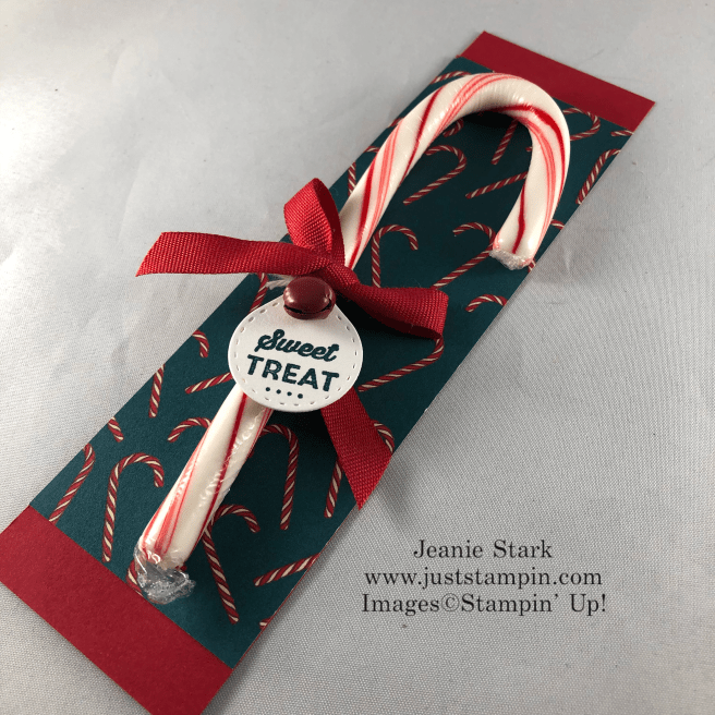 Stampin\' Up! Tiny Keepsakes Bundle sweet candy cane treat idea- Jeanie Stark StampinUp