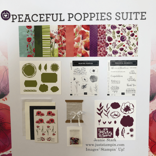 Stampin' Up! Peaceful Poppies Suite - Jeanie Stark StampinUp