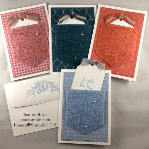Stampin' Up! Pocketful of Happiness In Color note card / gift card idea - Jeanie Stark StampinUp
