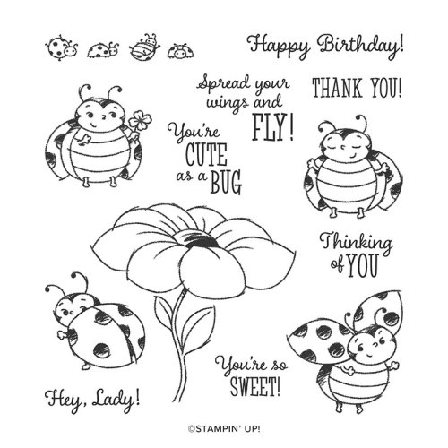 Stampin' Up! Little Ladybug stamp set - visit juststampin.com to find out how you can earn this set for FREE! - Jeanie Stark StampinUp