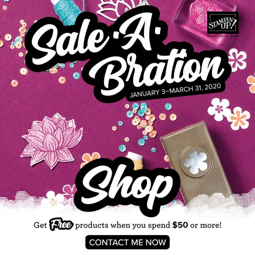 Stampin' Up! Sale-A-Bration - Get Free products! Shop with juststampin.com - Jeanie Stark StampinUp