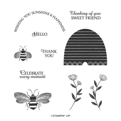 Stampin' Up! Honey Bee Stamp Set - for inspiration and ordering information visit juststampin.com - Jeanie Stark StampinUp