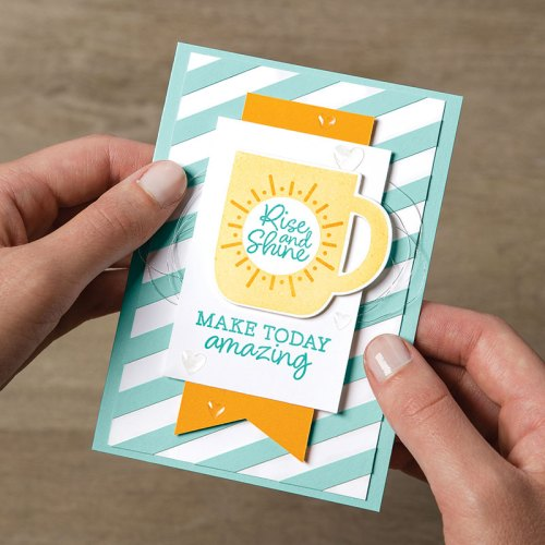 Stampin' Up! Rise and Shine all occasion inspirational card idea - Jeanie Stark StampinUp