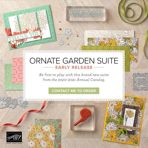 Stampin Up Ornate Garden Suite - for inspiration and ordering information visit juststampin.com - Jeanie Stark StampinUp