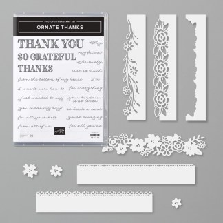 Stampin Up Ornate Thanks Bundle -for inspiration and ordering information visit juststampin.com - Jeanie Stark StampinUp