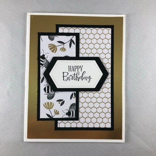 Stampin Up Golden Honey birthday card idea - Jeanie Stark StampinUp