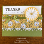 Stampin Up Ornate Thanks Bundle fun fold thank you card idea - Jeanie Stark StampinUp