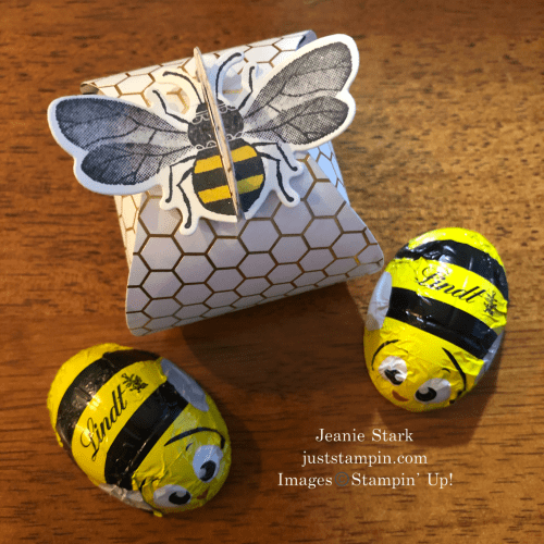 Stampin' Up! Honey Bee Mini Curvy Keepsake Box idea - Jeanie Stark StampinUp