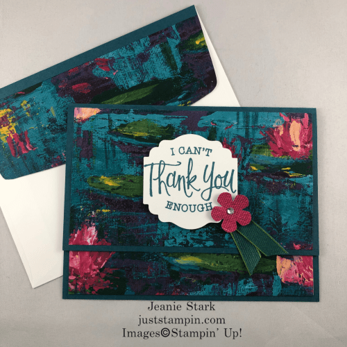 Stampin Up Lily Impressions fun fold all occasion card idea - Jeanie Stark StampinUp