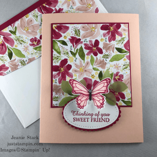 Stampin' Up! Best Dress Honey Bee thinking of you card idea for a friend - Jeanie Stark StampinUp