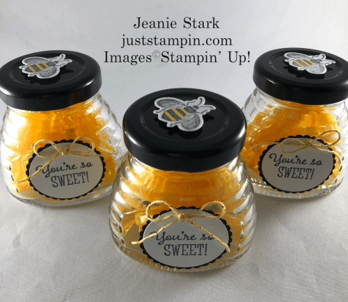 Stampin Up! Honey Bee and Little Ladybug treat jars - Jeanie Stark StampinUp