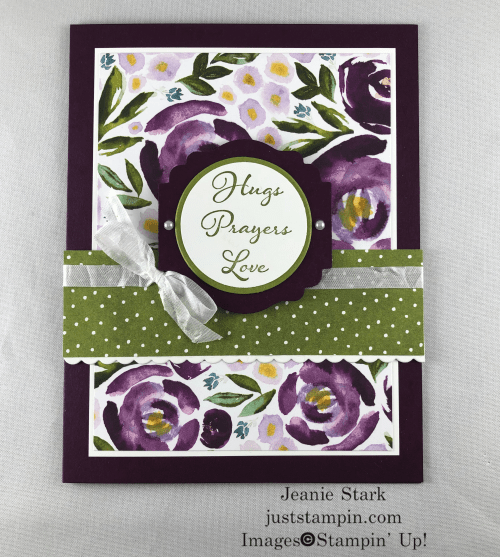 Stampin Up Best Dressed Positive Thoughts card idea for friends and family - Jeanie Stark StampinUp