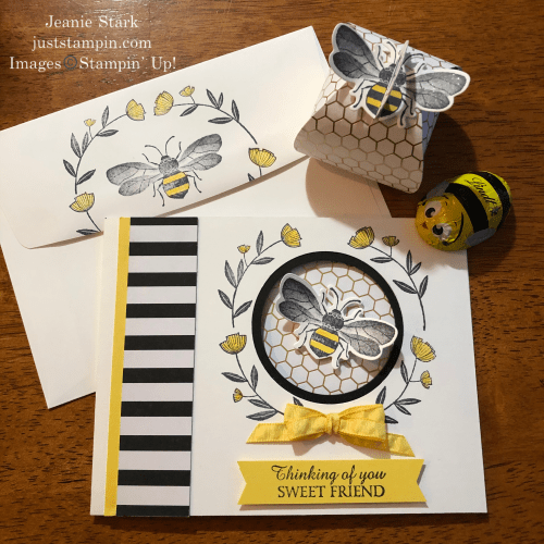 Stampin' Up! Honey Bee card and Mini Curvy Keepsake box gift set for a friend - Jeanie Stark StampinUp