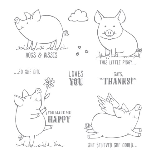 Stampin Up! This Little Piggy Stamp set - for inspiration and ordering information visit juststampin.com - Jeanie Stark StampinUp