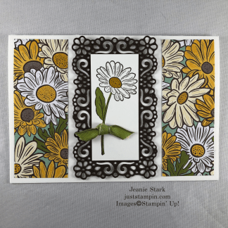 Stampin Up! Ornate Garden Thank you note card idea - Jeanie Stark StampinUp