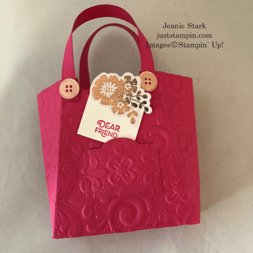 Stampin' Up! Parisian Flourish All Dressed Up Dies Purse ideas - Jeanie Stark StampinUp