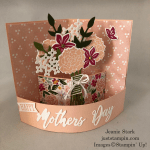 Stampin\' Up! Beautiful Bouquet and Word Wishes Mother\'s Day fun fold card idea - Jeanie Stark StampinUp