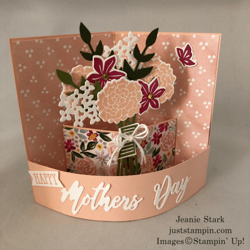 Stampin' Up! Beautiful Bouquet and Word Wishes Mother's Day fun fold card idea - Jeanie Stark StampinUp