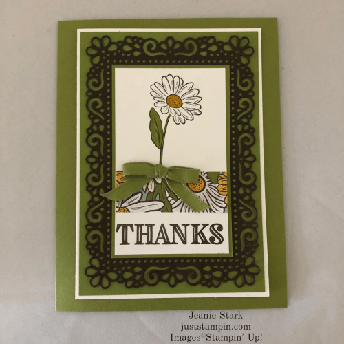 Stampin' Up! Ornate Garden Thank You card idea - Jeanie Stark StampinUp