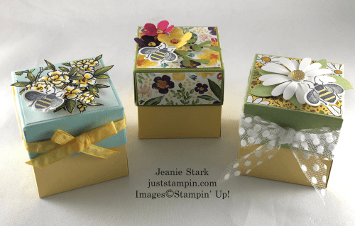 Stampin' Up! Honey Bee explosion box tea light gift idea - Jeanie Stark StampinUp