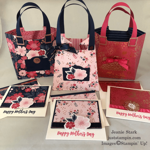 Stampin' Up All Dressed Up Mother's Day gift idea with Everything Is Rosy Product Medley - Jeanie Stark StampinUp