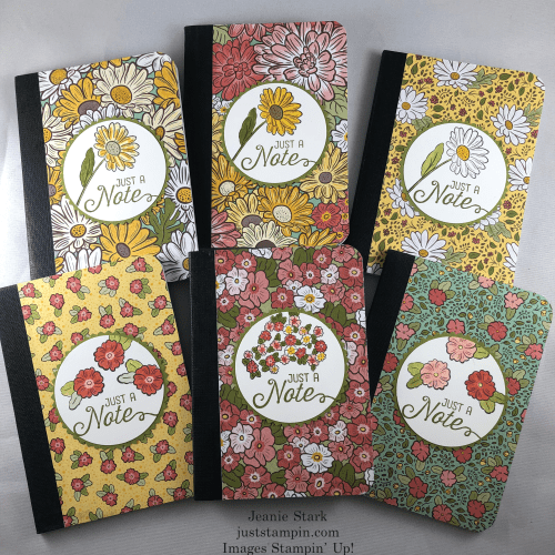 Stampin Up mini notebook featuring the Ornate Style stamp set and Ornate Garden Specialty Designer Series Paper - Jeanie Stark StampinUp