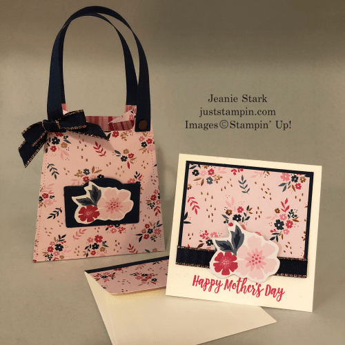 Stampin' Up All Dressed Up purse idea with Everything Is Rosy Product Medley - Jeanie Stark StampinUp