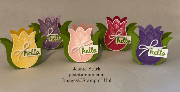 Stampin' Up! Timeless Tulips Tic Tac Treat holder - Jeanie Stark StampinUp