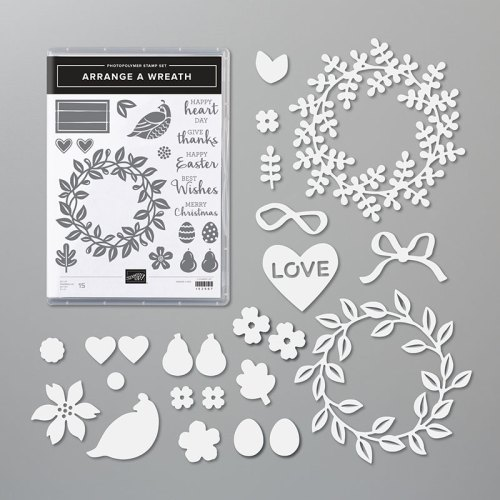 Stampin' Up! Arrange A Wreath Bundle - for inspiration and ordering information visit juststampin.com - Jeanie Stark StampinUp