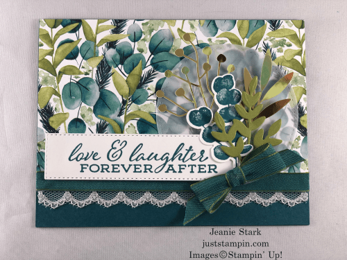 Stampin' Up! Forever Fern Wedding Card idea - Jeanie Stark StampinUp