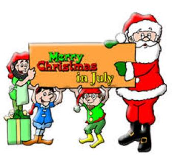 Christmas in July clip art