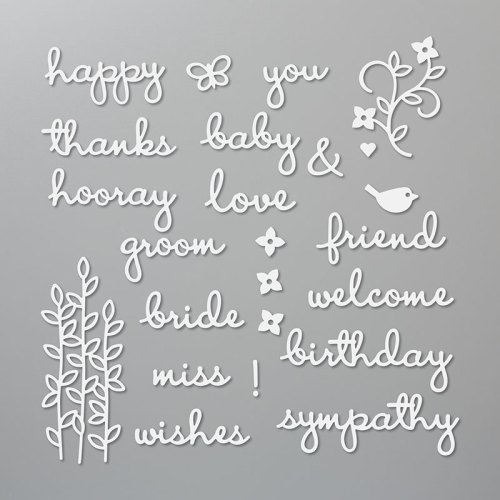 Stampin' Up! Well Written Dies are perfect so so many occasions! For inspiration and ordering information visit juststampin.com - Jeanie Stark StampinUp