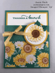 Stampin\' Up! Celebrate Sunflowers and Flowers For Every Season fun fold thank you card idea - Jeanie Stark StampinUp