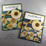 Stampin\' Up! Celebrate Sunflowers Thank you fun fold pocket card idea - Jeanie Stark StampinUp