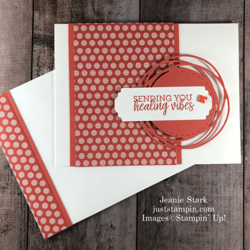 Stampin' Up! 2019 - 2021 In Color Painted Poppies Get Well card idea with Healing Hugs - Jeanie Stark StampinUp