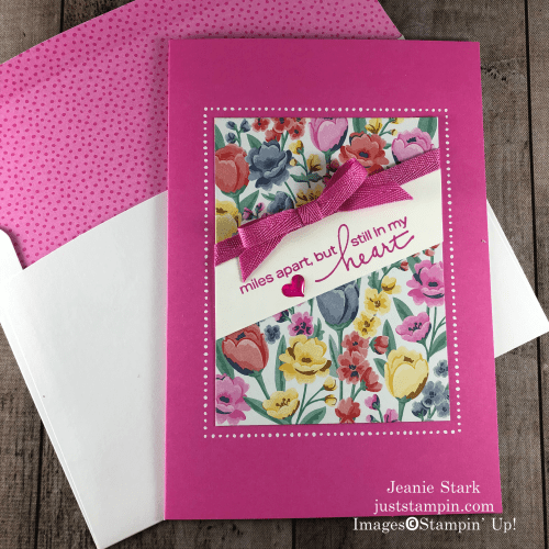 Stampin' Up! Flowers For Every Season Memories & More all occasion card idea using Lovely You stamp set - Jeanie Stark StampinUp