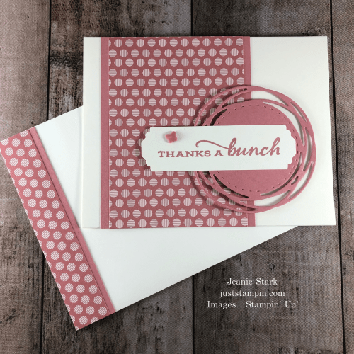 Stampin' Up! 2019 - 2021 In Color Painted Poppies Thank You card idea with Celebrate Sunflowers - Jeanie Stark StampinUp