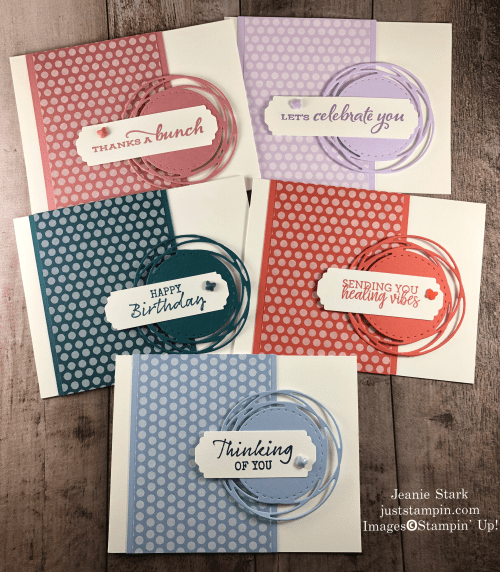 Stampin' Up! 2019 - 2021 In Color Painted Poppies card ideas with Celebrate Sunflowers, Seaside Notions, and Healing Hugs - Jeanie Stark StampinUp