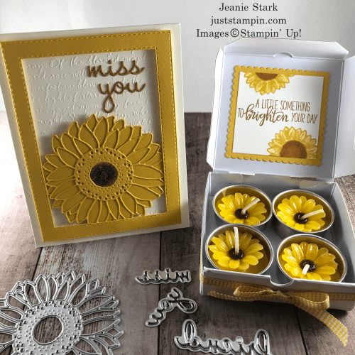 Stampin' Up! Celebrate Sunflowers and Well Written gift set idea for a friend - Jeanie Stark StampinUp