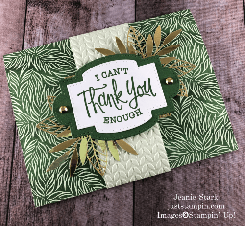 Stampin' Up! So Sentimental and Forever Greenery pop up gift card holder