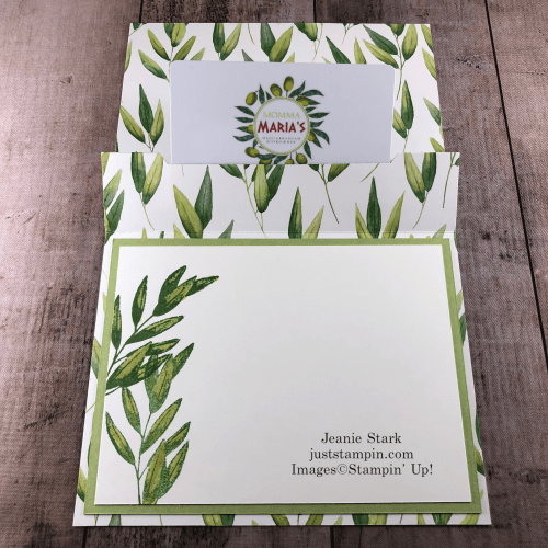 Stampin' Up! Forever Fern Stamp Set and Forever Greenery pop up gift card holder