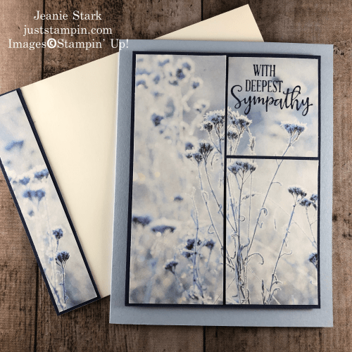 Stampin' Up! Feels Like Frost and Peaceful Moments Clean & Simple Sympathy card idea - Jeanie Stark StampinUp