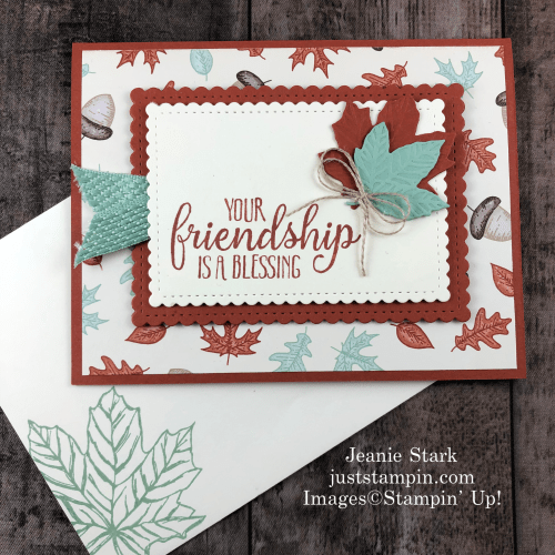 Stampin' Up! So Sentimental and Gathered Leaves birthday card idea - Jeanie Stark StampinUp