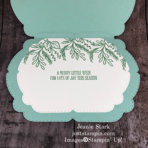 Stampin' Up! Celebration Tidings Christmas card idea - Jeanie Stark StampinUp